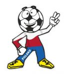 Novelty FOOTBALL HEAD MAN With Poland Polish Polska Flag Motif For Football Soccer Team Supporter Vinyl Car Sticker 100x85mm